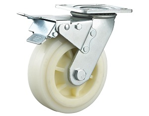 Heavy Duty Casters Polypropylene Wheel Swivel Plate with